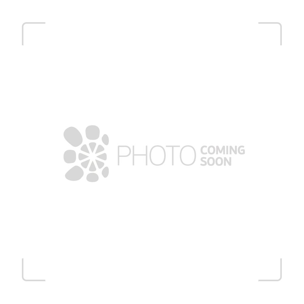 Black Leaf - Double HoneyComb Perc Stemless Glass Bong - 55cm - Amber - Close Up HoneyComb Perc