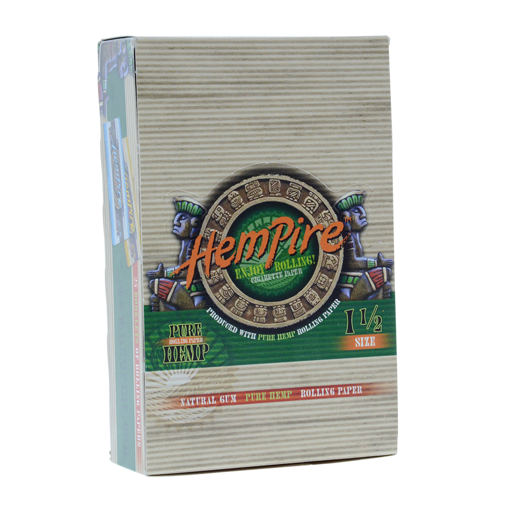 Hempire Regular Size 1 1/2 Hemp Rolling Papers - Box of 25 Packs
